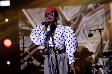 U.S. singer Lauryn Hill performs during the 16th Mawazine World Rhythms International Music Festival in Rabat,