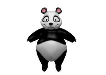 Urso Panda, Ilustração 3D