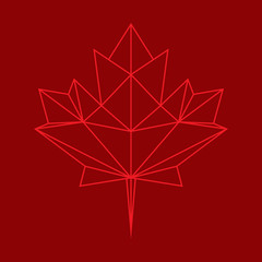 Low Poly Maple Leaf