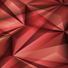 Abstract geometrical red background. Vector Illustration