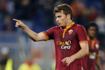 AS Roma's Ljajic celebrates after scoring against Atalanta during their Italian Serie A soccer match in Rome