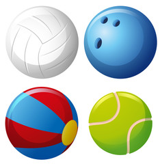 Four types of balls