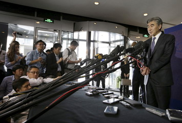 U.S. Special Representative for North Korea Policy Sung Kim speaks to the media at a news conference in Beijing