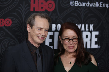 Cast member Steve Buscemi arrives with his wife director Jo Andres for the season premiere of the HBO series Boardwalk Empire, in New York