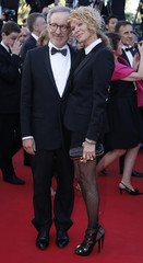 """Jury President of the 66th Cannes Film Festival Steven Spielberg and his wife Kate Capshaw arrive for the screening of the film """"La Venus a la Fourrure"""" in competition during the 66th Cannes Film Festival"""
