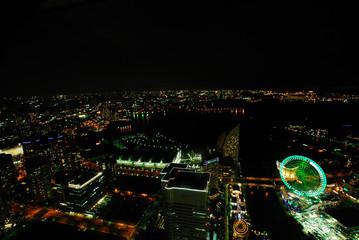 ランドマークタワーからの夜景