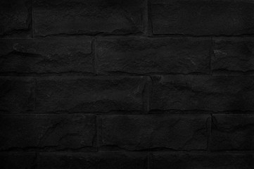 black brick wall for background and design art work.