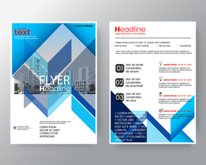 Abstract blue diagonal line Brochure annual report cover Flyer Poster design Layout vector template in A4 size