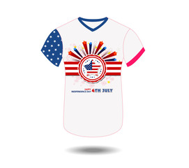 Design t-shirt United States of America for happy independence day 4th of july