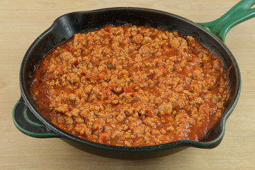 Sloppy Joe mixture with ground turkey meat for lower cholesterol meal choice