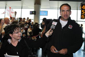 England's rugby coach Martin Johnson arrives at Dunedin airport ahead of their 2011 Rugby World Cup debut match, in Dunedin