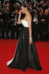 """Jury member actress Sophie Marceau poses on the red carpet as she arrives for the screening of the film """"Maryland"""" at the 68th Cannes Film Festival in Cannes"""