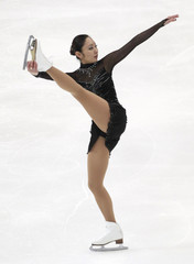 Miki Ando of Japan performs during the ladies free skating competition at the ISU Four Continents Figure Skating Championships in Taipei