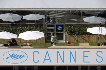 A view shows a rooftop terrace of the Festival Palace as preparations continue before the start of the 68th Cannes Film Festival in Cannes