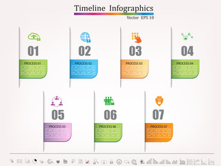 Timeline infographic,  business style timeline banner, web design,timeline infographics,cyber security concept,icon set