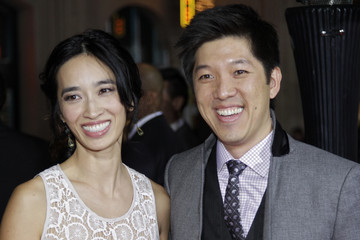 """Two-time World Champion Badminton player Xie Xingfang and producer Dan Lin arrive at Warner Bros. Pictures' """"Gangster Squad"""" premiere at Grauman's Chinese Theatre in Hollywood, California"""