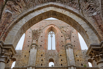 Arch in the Ruined Abbey - San Galgano