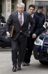 Spanish judge Baltasar Garzon arrives at the Supreme Court in Madrid
