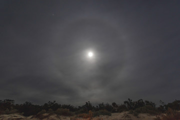 Sign of Rain/They say when seen the ring around the moon there be rain coming? 