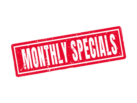 monthly specials red stamp style