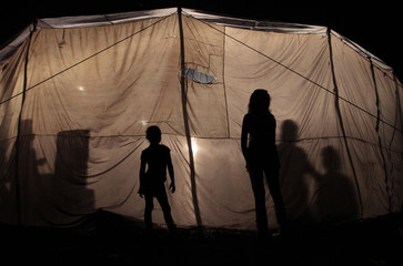 Dancers wait for their turn backstage at the family-owned circus Clavito in Managua