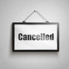 cancelled text sign