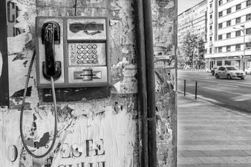 Public phone, Bucharest, Romania