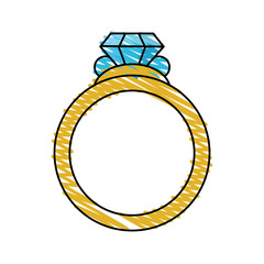 color crayon stripe image diamond engagement ring vector illustration