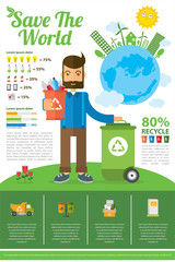 save the world infographic