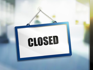 closed text sign