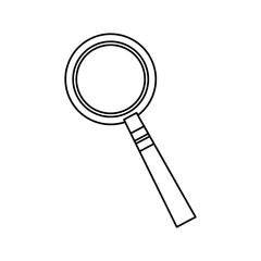 magnifier glass zoom search image vector illustration