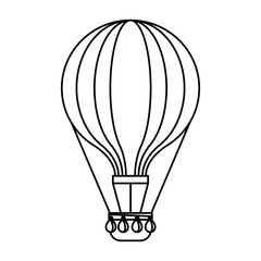 hot air balloon adventure fly travel vector illustration