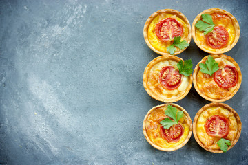 Cherry tomato cheese mini tarts