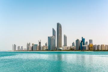 Abu Dhabi cityscape in UAE