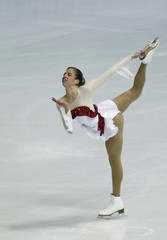 Italy's Carolina Kostner performs during the women's short program at the European Figure Skating Championships in Zagreb January 25, 2013.
