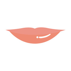 light colors of silhouette of red lips vector illustration