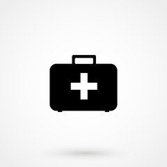 First aid Icon in trendy flat style isolated on grey background. Medical symbol