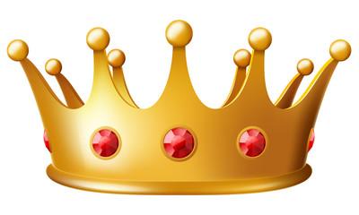 Golden crown. Vector illustration.