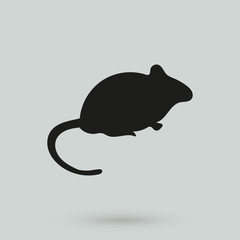 silhouette of the mouse