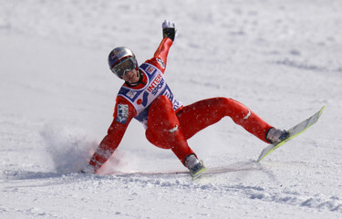 Austrian Gregor Schlierenzauer lands during the FIS World Cup Ski Jumping competition in Zakopane