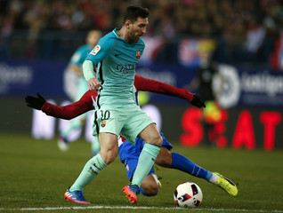Football Soccer - Atletico Madrid v Barcelona - Spanish King's Cup Semi-final first leg