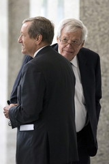 Former U.S. House of Representatives Speaker Dennis Hastert appears in a Chicago court to face federal charges.
