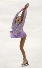 Mao Asada of Japan performs during the ladies free skating competition at the ISU Four Continents Figure Skating Championships in Taipei