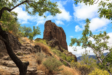 Archaeological site of Roque Bentayga. Gran Canaria. Spain