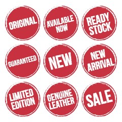 Stamp Set for Product Advertising