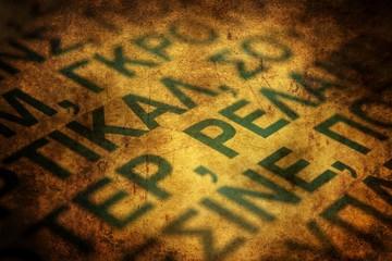 Greek letters grunge concept