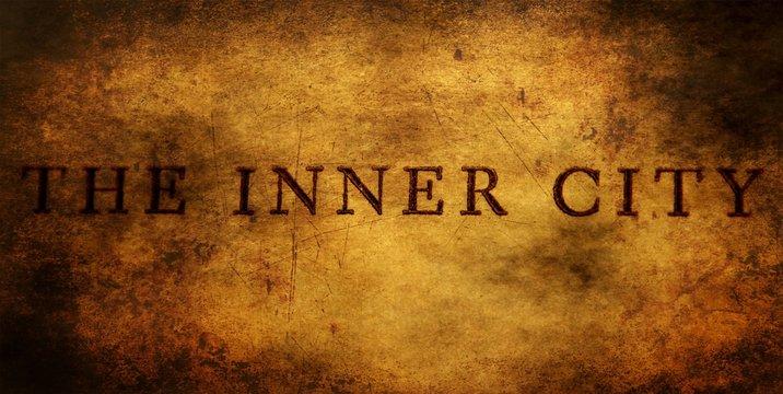 Inner city text grunge concept