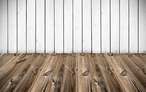 white wall with wood floor