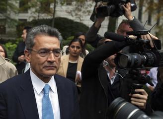 Rajat Gupta departs Manhattan Federal Court after being sentenced in New York