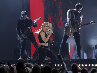 "The Band Perry performs ""Chainsaw"" during the 49th Annual Academy of Country Music Awards in Las Vegas"